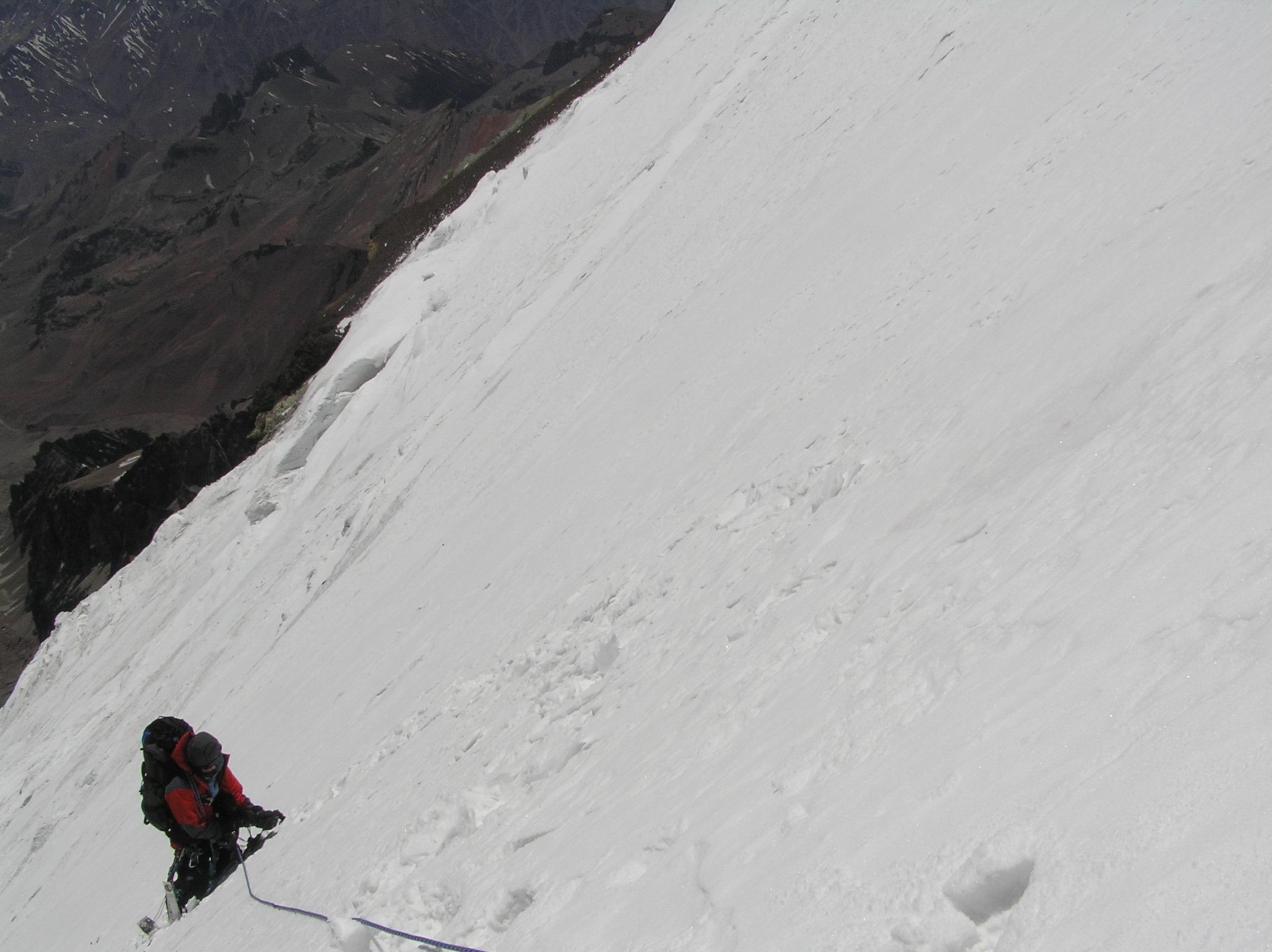Direkte ruta på Polskebreen Aconcagua