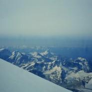 Utsikt fra sadelen til Elbrus 5416m