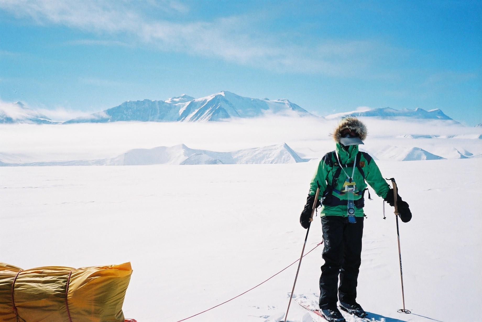 På vei fra Mt. Vinson til Sydpolen